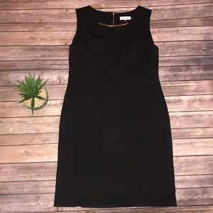 Calvin Klein Black Fitted Dress Size 10
